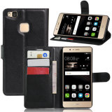 Lichee Pattern Flip Leather Wallet Phone Cover Fall für Huawei