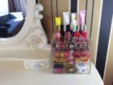 Caja de presentación cosmética de acrílico versátil con 5 cajones