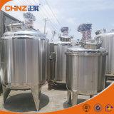 アジテータが付いているLectricか蒸気暖房のステンレス鋼の化学液体の混合タンク