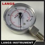 Caja de acrílico de 041 de presión de los calibradores de aire Ss del calibrador e interno de alto nivel