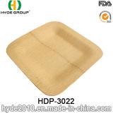 Placa quadrada de bambu descartável Eco-Friendly (HDP-3022)