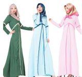 Vestido muçulmano das senhoras da roupa das mulheres de Dubai Abaya do algodão