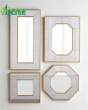 熱い販売の骨董品の金終了する組み立てられた壁ミラーはホーム装飾のための4つをセットした