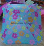 Подгонянный зонтик пляжа выдвиженческого зонтика лета конструкции напольный