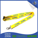 Hot Sale Flat Polyester Screen Impresso Lanyard com logotipo