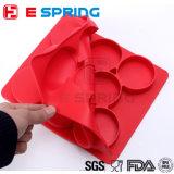 Imprensa 8 do hamburguer do silicone da cor vermelha em rissóis de 1 Hamburger da forma redonda