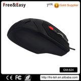 Negro de revestimiento de goma del ordenador portátil ratón óptico del juego