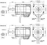 Motor servo de la C.C. de NEMA23 24V para la máquina del CNC