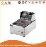 friggitrice profonda elettrica ad un solo serbatoio delle patatine fritte dell'acciaio inossidabile 15L