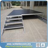 Étape extérieure de plate-forme en bois en aluminium de bâti de prix bas