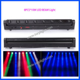 Etapa de luz LED 8PCS * 10W RGBW colada de la luz