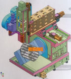 型の処理のための中国の5軸線CNCのガントリーフライス盤(DU650)