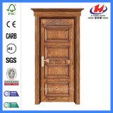 Современным древесина высеканная мастером обшивает панелями нутряную Mahogany дверь