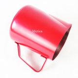 Roter OberflächenEdelstahl-Milch-Krug