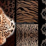 100%Polyester идущий леопард Pigment&Disperse напечатал ткань для комплекта постельных принадлежностей
