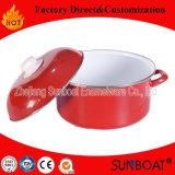 Caçarola do esmalte de Sunboat com Kitchenware da tampa do esmalte