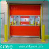 Portes industrielles à grande vitesse de roulement de tissu de PVC