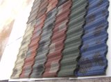Hoja revestida revestida de piedra del material para techos del azulejo de azotea del metal/del metal de la piedra