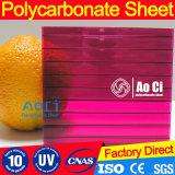 폴리탄산염 온실 10mm 최소한도 두 배 UV Virgin 물자