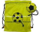 Sacchetto di stringa pieghevole di tiraggio, gioco del calcio, peso leggero, conveniente e pratico, svago, sport, promozione, accessori & decorazione