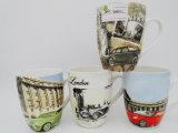 Un latte di ceramica variopinto lucido dalle 13 once, tazza di caffè