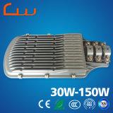150W preço da luz de rua do diodo emissor de luz do borne do poder superior 8m