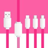 1.2m 3 in aufladendem 1USB und Daten-Kabel für Iphohne, Samsung, Typ c-Mobile
