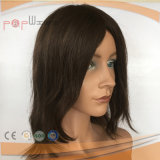 100% парик женщин цвета Remy человеческих волос нетронутый, поли Coated короткий парик волос длины