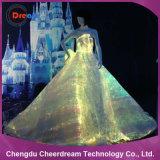Пластичное платье венчания освещения ткани оптического волокна