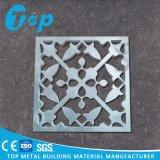 Painel perfurado de alumínio da fachada da fabricação de metal para a decoração