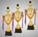 Copo enorme do troféu do ferro do tamanho para o campeonato com parte superior elevada