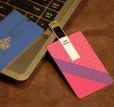 Movimentação do flash do USB da forma do cartão de crédito, vara do USB