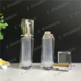 botella privada de aire de acrílico clara transparente de la loción 15ml para el empaquetado del cosmético (PPC-AAB-033)