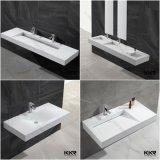 Italian Design Stone Resin Bathroom Wall Hung Wash Basins