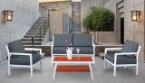 屋外の庭の家具のプールアルミニウムフレームのプラスチック木製表および椅子のソファー