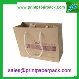Kundenspezifische Packpapier-Einkaufstasche-Luxuxpapiergeschenk-Beutel mit Firmenzeichen-Drucken