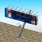 De schuine Vierkante aanplakbord-Backlit Reclame van de Straat van de Pijler
