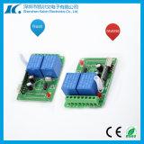 2channel 12V que aprende o interruptor sem fio do telecontrole de Univesal RF do código