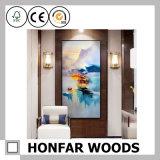 간명 호텔 훈장 프로젝트를 위한 백색 목제 색칠 포스터 프레임