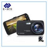Câmera dupla cheia do carro DVR da lente de HD 1080P mini com aviso da distância de Ldws Adas