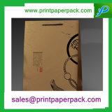 Het Winkelen van de Zak van het Document van Kraftpapier van de douane de Zak van de Gift van het Document van de Zak met de Druk van het Embleem