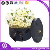Black Round Shape Matte Finishing Flower Box