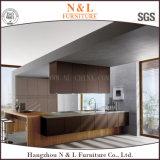 Cabinas de cocina grises del llano de la alta calidad del diseño de la cocina