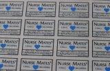 Etiquetas engomadas del traspaso térmico con las escrituras de la etiqueta de cuidado del cuello de la transferencia para la camiseta