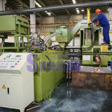 Máquina automática horizontal del enladrillado de las partículas de cobre