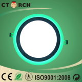Ctorch White+Green ultra sottile 6W+3W LED on-off Colore-Cambia l'indicatore luminoso di comitato