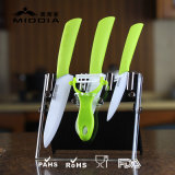 Cuchillería de la cocina 5PCS para los cuchillos de cerámica con Peeler