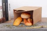 Venta al por mayor 2016 del bolso de la maneta de Brown Kraft para el envasado del regalo y de alimentos