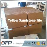 人気のある黄色いカラーホテルの壁および床のための自然な砂岩タイル