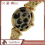 Retro signora di vetro minerale classica Steel Watch